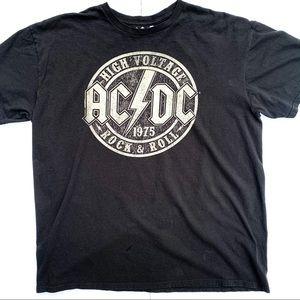 AC/DC High Voltage Tee Shirt Black Size XL